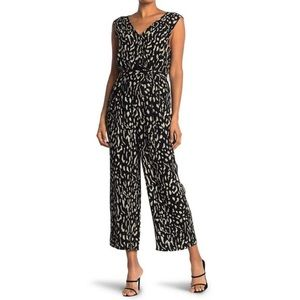 NWT Rails Irene Jumpsuit in Black Abstract Cheetah